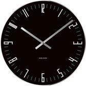 Karlsson Slim Index - Klok - Rond - Glas - Ø40 cm - Zwart