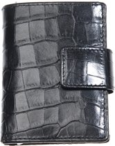 Leather Design – Billfold & Figuretta cardprotector & ritssluiting vak – croco black