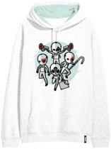 Fortnite sweater - hoodie -  wit - maat 152 cm  / 12 jaar