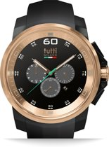 Tutti Milano TM501NO-RO- Horloge -  48 mm - Zwart - Collectie Masso Sterk AFGEPRIJSD!!!!
