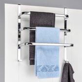 Haushalt Handdoekenrek voor aan de deur - RVS -