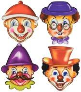 Toi-toys Feestmaskers Clown 4 Stuks