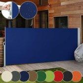 Uittrekbaar zonne - windscherm - 160 x 300 cm - Blauw