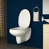 Trend24 - Toilet ophang toilet - Toilet deksel - Soft close - Wit