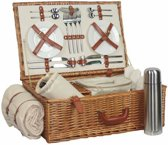 Deluxe volledig ingerichte 4 Person Traditionele Picnic Mand