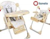 Lionelo Linn multifunctionele kinder eetstoel met ligstand, accessoire vak en vele extra's