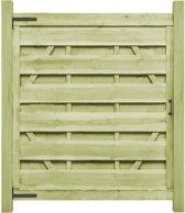 vidaXL Poorten 2 st 150x175 cm FSC geïmpregneerd grenenhout groen
