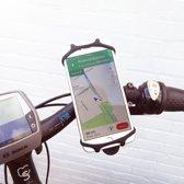 Telefoonhouder voor mobiel op fiets  - Fietshouder mobiel - Houder fietsstuur - Verstelbaar - Gemakkelijk te bevestigen - Universeel - Zwart