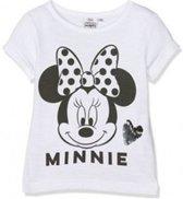 Disney Minnie Mouse t-shirt zwart wit - maat 128