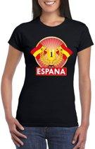 Zwart Spanje supporter kampioen shirt dames S