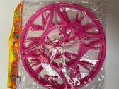 Droogcarrousel met 16 knijpers in roze