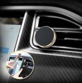 Draaibaar Magnetisch Autohouder Goud 360 Graden - Car Mount Holder Rotatable- Ventilatie Rooster (Apple iPhone / Samsung / Huawei / LG / HTC / Sony Experia / Nokia / HTC / Asus)