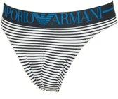 00d0e420b72 Emporio Armani - Heren String Microfiber Blauw Gestreept - XL