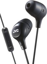 JVC HA-FX38M-B JVC Marshmallow Remote In-Ear Stereo Headphone Black