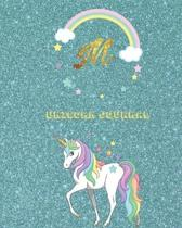 Unicorn Journal M: Activity book for the writing and drawing for boys with your favorite character