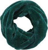 Faux fur col sjaal Groen Tube shawl col sjaal Nep bont