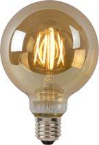 Lucide LED BULB - Filament lamp - Ø 9,5 cm - LED Dimb. - E27 - 1x5W 2700K - Amber