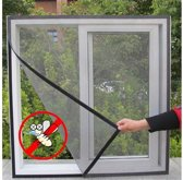 Insecten Raam Scherm Tegen Insecten 130x150cm - Laat Vliegen Buiten en Maar Frisse Lucht Binnen | Rooster Ramen | Horrengaas | Insect Net Screen