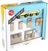 Ikonic Toys 150176 Nederlandse Houten Treinenset