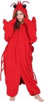 Kreeft Onesie Premium Verkleedkleding - Volwassenen & Kinderen - Onesize (155-177 cm)