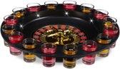 relaxdays Roulette drankspel met LED - drinkspelletje - party roulette - shotglaasjes