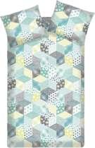 Beddinghouse Reefton dekbedovertrek - Aqua Blue - Lits-jumeaux (240x200/220 cm + 2 slopen)