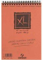 Canson schetsblok XL formaat 148 x 21 cm (A5) blok van 60 blad