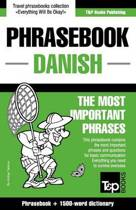 Danish Phrasebook and 1500-Word Dictionary