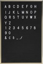 Letterbord in Aluminium Lijst inclusief 144 Letters & Cijfers   30 x 45 cm   Letterboard in Frame   Vintage Retro Huisdecoratie   Gadget   Cadeau