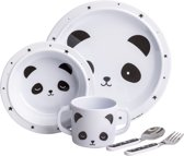 A Little Lovely Company | Panda | Melamine servies | 5-delig | Kinder Eetset