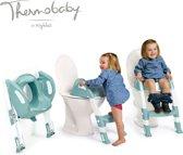 Thermobaby Kiddyloo Toilettrainer met trapje UITVERKOOP - Celadon groen en wit