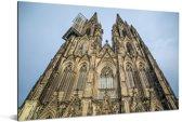 De gotische kathedraal in het Duitse Keulen Aluminium 120x80 cm - Foto print op Aluminium (metaal wanddecoratie)