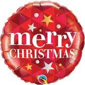 Folie Ballon Merry Christmas (exclusief helium)