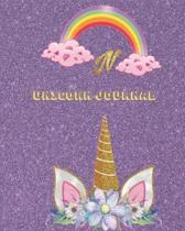 Unicorn Journal N: Activity book for the writing and drawing for girls with your favorite character