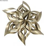 Kerstster knutsel set goud