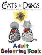 Cats and Dogs Adult Colouring Book