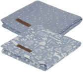 Little Dutch swaddle doeken 70 cm adventure blue