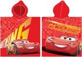 Disney Badponcho Cars Rood Junior 50 X 115 Cm