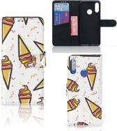 Motorola Moto E6 Plus Book Cover Icecream