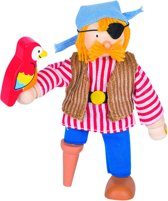 Goki Houten buigpopje piraat 11cm