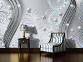 Silver | Blue Photomural, wallcovering
