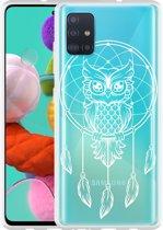 Samsung Galaxy A51 Hoesje Dream Owl Mandala White