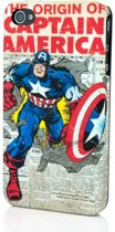 Marvel Satin Vintage iPhone 4 & 4S Hardcase Captain America Newspaper