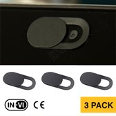 Webcam Cover IN-VI  (3 pack) - DE ORIGINELE, Dunste en goedkoopste privacy webcamcover protector spy schuifje