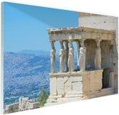 FotoCadeau.nl - Close-up van de Akropolis Glas 30x20 cm - Foto print op Glas (Plexiglas wanddecoratie)