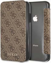 Guess 4G Charms Book Case voor Apple iPhone XR (6.1'') - Bruin