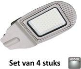 30W LED Straatlamp | 6400K |Als terrein, oprit en pleinverlichting| set van 4