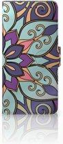 Huawei Mate 20 Pro Boekhoesje Design Purple Flower