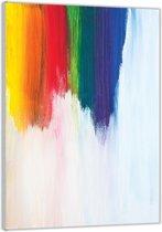 Plexiglas –Geschilderde  Regenboog– 40x60cm (Wanddecoratie op Plexiglas)