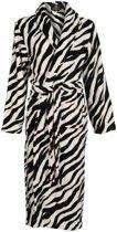 Badjas zebra maat L/XL